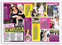 Angelina Jolie birth exclusive