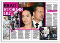 Brad Pitt storms out