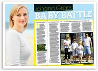 Johanna Griggs: My baby battle