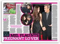 Mel Gibson flaunts pregnant lover