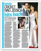 Cricket WAG Jessica hits back