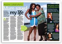 Paulini: My mum saved my life