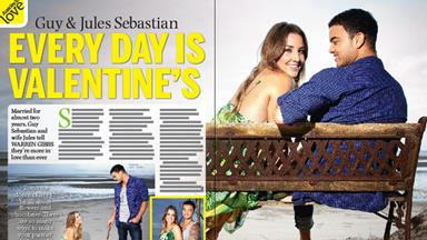 Every day is Valentine's Day for Guy and Jules Sebastian!
