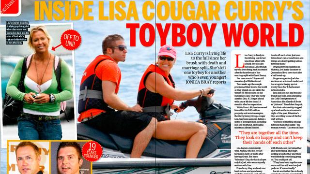 "Inside Lisa ""cougar"" Curry's toy boy world!"