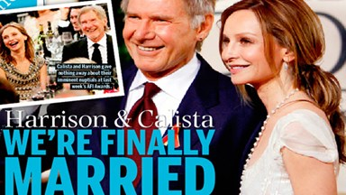 Harrison Ford and Calista Flockhart finally married!