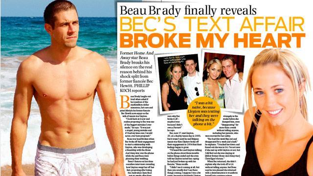 Beau Brady reveals: Bec's text affair broke my heart