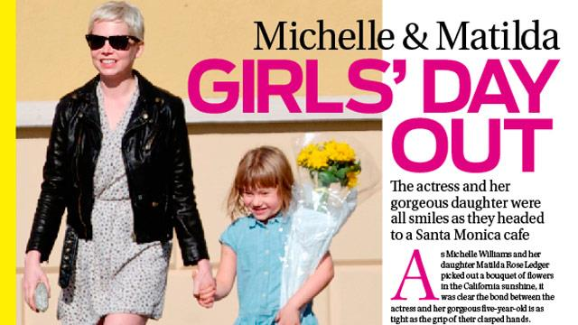 Michelle Williams and Matilda's girls day out!