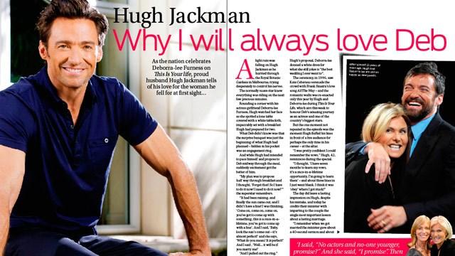 hugh jackman tells  why i will always love deb