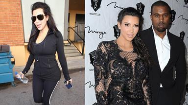 Pregnant Kim Kardashian keeps up the workouts
