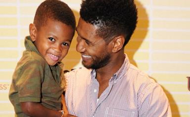Usher's son in hospital after serious accident