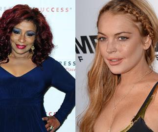 Lindsay Lohan in rehab fight with Chaka Khan