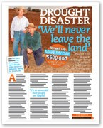 Drought disaster: 'We'll never leave the land'