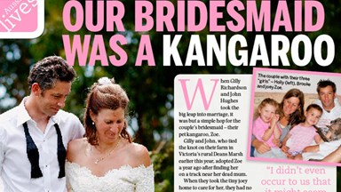 Our bridesmaid was a kangaroo!