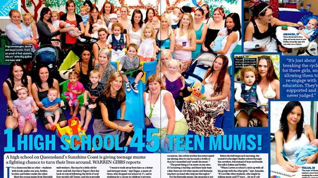 One highschool, 45 teen mums!