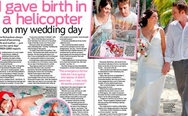 I gave birth in a helicopter, on my wedding day!