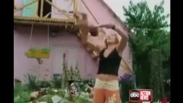 Shocking video: Dangerous swinging baby yoga