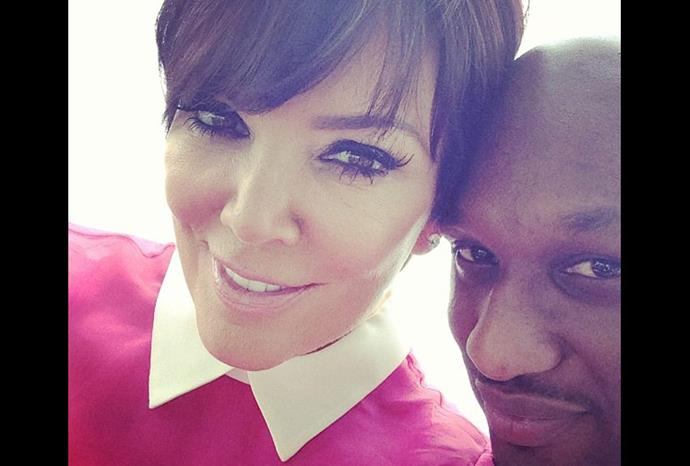 Kim's mum Kris Jenner cuddles up to Lamar Odum.