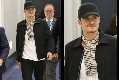 Orlando Bloom strides into Sydney