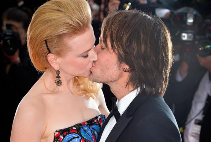 Nicole and Keith lock lips at Cannes.