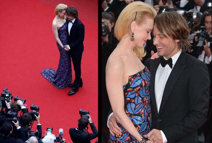 Nicole and Keith can't keep their hands off each other in Cannes.
