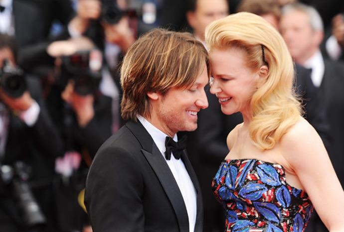 All smiles: The pair can't hide their love for each other.