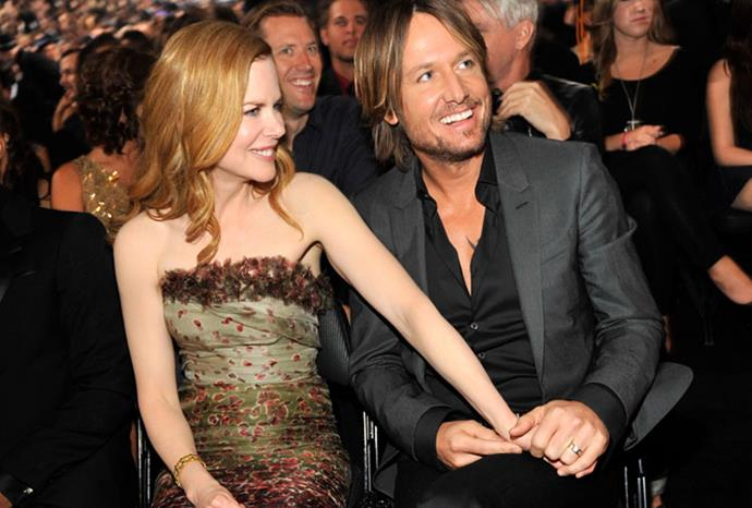 Hand in hand at the 2011 Grammys.