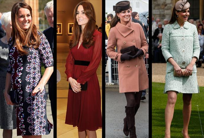 Catherine's stunning maternity style.
