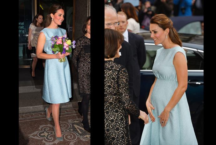 Catherine was the epitome of elegance in this Emilia Wickstead dress.