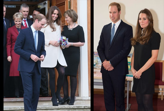 Catherine and William step out in Buckinghamshire.