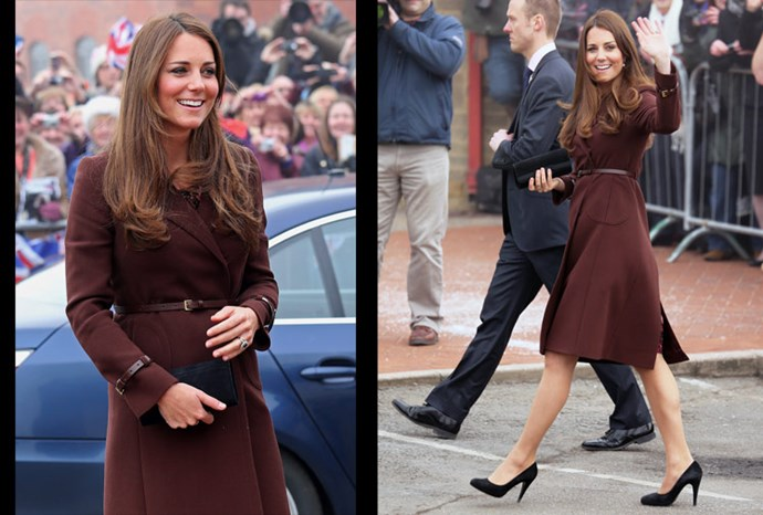 Waisted coats have always been a fashion favourite for Catherine.