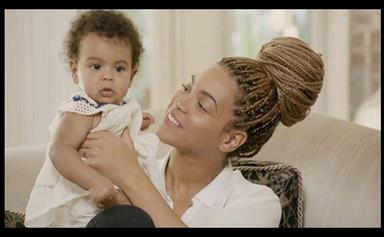 Beyonce introduces baby Blue