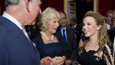 Kylie parties with Prince Charles