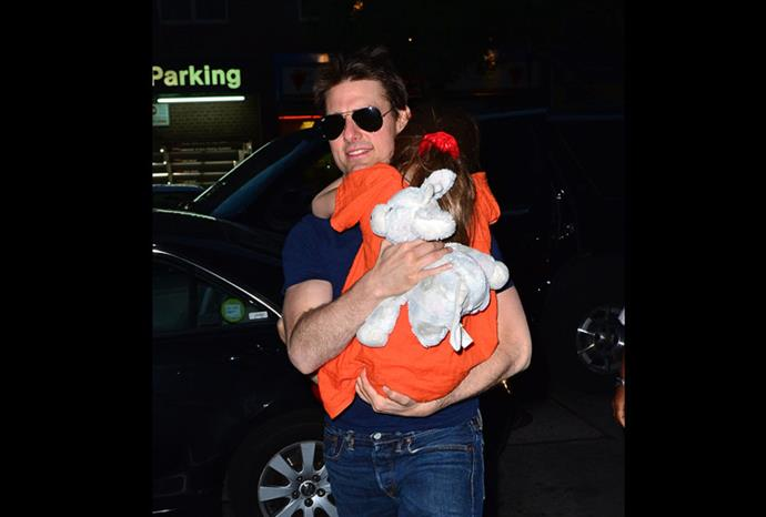 Tom is reunited with Suri.