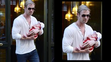 Doting dad Chris Hemsworth