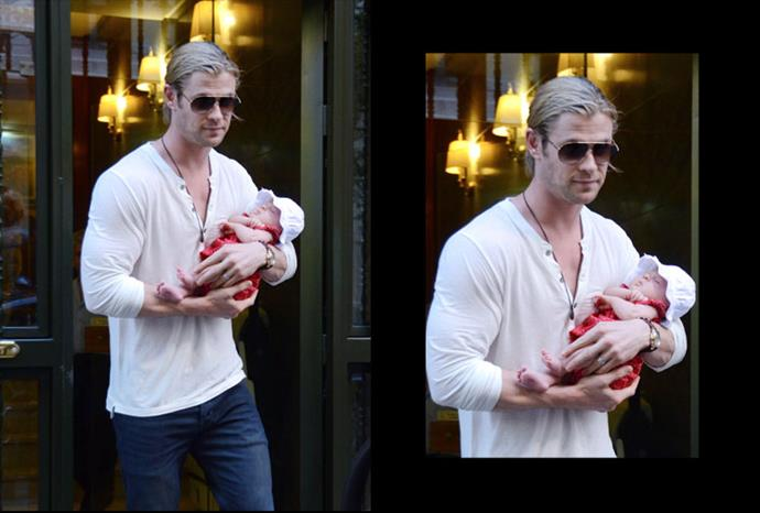 Doting dad Chris Hemsworth