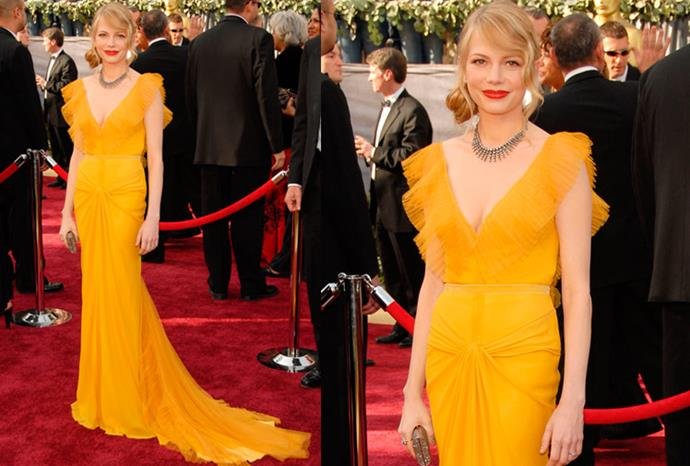 Michelle Williams wore this stunning Vera Wang gown to the Oscars in 2006.