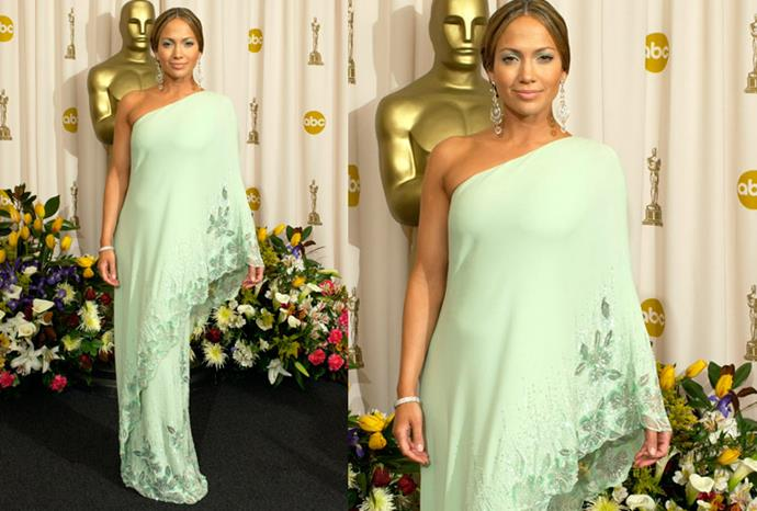 In 2003 Jennifer Lopez took a risk in this Valentino , but it seems that it paid off.