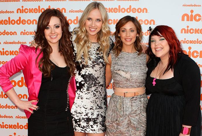 Natalie Imbruglia with X factor contestants at the Nikelodeon Kids Choice Awards