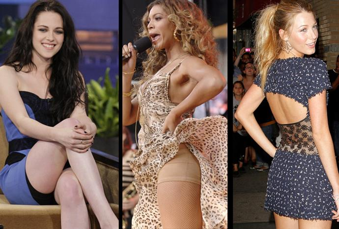 Celebrities accidently show off their spanx.