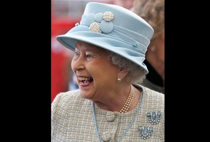 During a two day visit to Wales the Queen wore this matching hat and jacket.