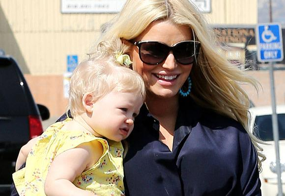She may be young but we are certain that little Maxwell Drew will grow-up to look just like her mum Jessica Simpson.