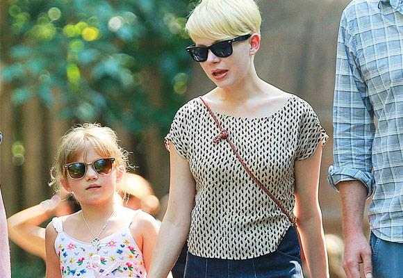 Matilda is growing up to be the spitting image of her mum Michelle.    With matching sunglasses, these two are super cute!