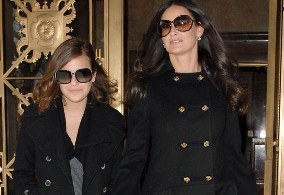 Demi Moore's youthful features and her daughter Tallulah Belle's style make the pair almost identical!