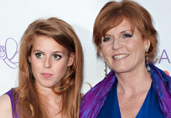Sarah Ferguson Duchess of York and her first daughter Princess Beatrice share the same red hair and similar facial features.