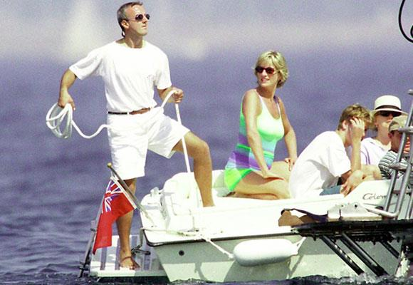 In 1997 Diana began a relationship with Dodi Fayed. The pair spent the week together before Diana's death on Dodi's father's yacht sailing the Italian and French rivieras.