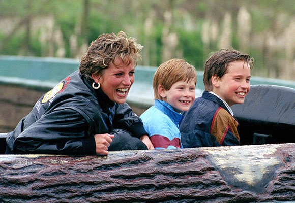 Unlike most royals, princes William and Harry were bought up outside of the palace walls, which was very much the intention of their mother.    They went to amusement parks and experienced the things that normal children did as much as they could.