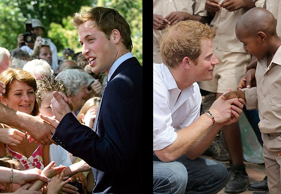 "Princes William and Harry were introduced to their mother's work, at an early age and have carried on her legacy.    ""She very much wanted to get us to see the rawness of real life. And I can't thank her enough for that, 'cause reality bites in a big way, and it was one of the biggest lessons I learned is, just how lucky and privileged so many of us are particularly myself,"" William once said of his mother."