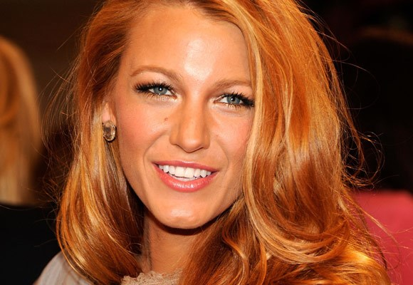 Blake Lively shows that bold and bright red colour makes the eyes pop and makes the hair shine.