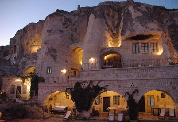 This stunning area in Turkey is a myriad of underground churches, cities and cave houses which date back to the fifth and sixth centuries. The actual hotel is carved into the mountain cliff, with unique rooms creating a romantic ambience that's hard to beat.