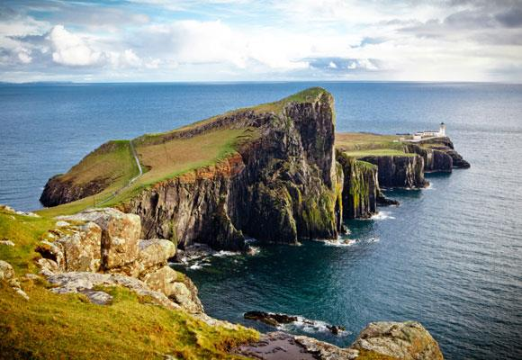 If a remote destination is your thing, you'll feel like you're at the ends of the earth on the Isle of Skye. The rugged beauty of the area is made all the more haunting by its solitary lighthouses, like the stunning Neist Point Lighthouse. You can even stay in some around the area. *Image: Getty*